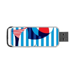 Blue Sea Portable Usb Flash (one Side)