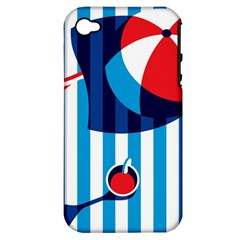 Blue Sea Apple Iphone 4/4s Hardshell Case (pc+silicone)