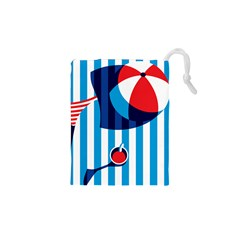 Blue Sea Drawstring Pouches (xs)  by Jojostore