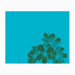 Blue Flower Small Glasses Cloth (2 Side) by Jojostore