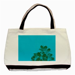 Blue Flower Basic Tote Bag (two Sides)