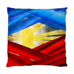 Blue Red Yellow Colors Standard Cushion Case (two Sides) by Jojostore
