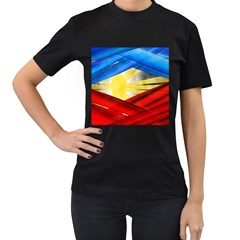 Blue Red Yellow Colors Women s T Shirt (black)