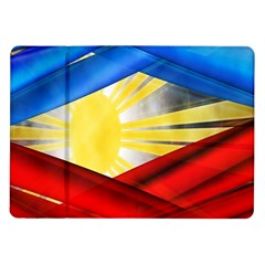 Blue Red Yellow Colors Samsung Galaxy Tab 10 1  P7500 Flip Case by Jojostore