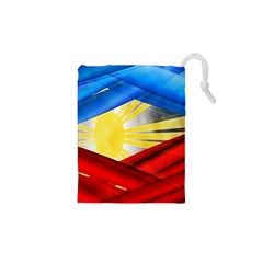Blue Red Yellow Colors Drawstring Pouches (xs)  by Jojostore