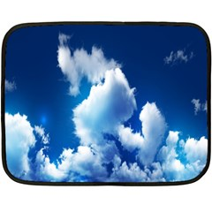 Blue Sky Clouds Double Sided Fleece Blanket (mini)