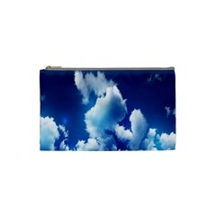 Blue Sky Clouds Cosmetic Bag (small)
