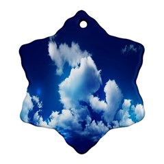 Blue Sky Clouds Ornament (snowflake)