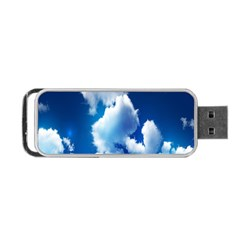 Blue Sky Clouds Portable Usb Flash (two Sides) by Jojostore