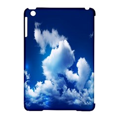 Blue Sky Clouds Apple Ipad Mini Hardshell Case (compatible With Smart Cover) by Jojostore