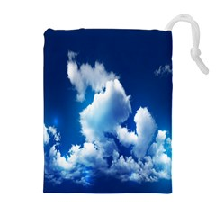 Blue Sky Clouds Drawstring Pouches (extra Large) by Jojostore
