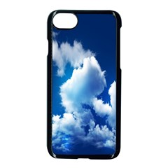 Blue Sky Clouds Apple Iphone 7 Seamless Case (black)