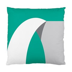Chevron Green Gray White Standard Cushion Case (two Sides)