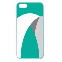 Chevron Green Gray White Apple Seamless Iphone 5 Case (color)