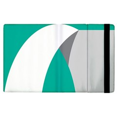 Chevron Green Gray White Apple Ipad 3/4 Flip Case by Jojostore