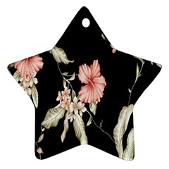 Buds Petals Dark Flower Pink Star Ornament (two Sides)