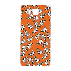 Cat Hat Orange Samsung Galaxy Alpha Hardshell Back Case by Jojostore