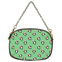 Christmas Penguin Green Chain Purses (one Side)  by Jojostore