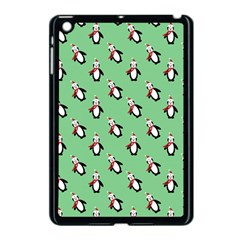Christmas Penguin Green Apple Ipad Mini Case (black) by Jojostore