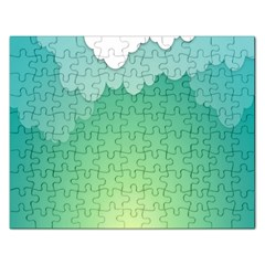 Clouds Rectangular Jigsaw Puzzl by Jojostore