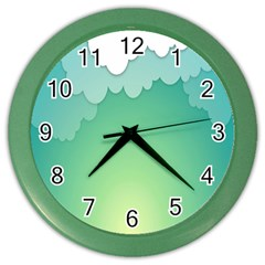 Clouds Color Wall Clocks by Jojostore
