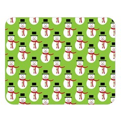 Christmas Snowman Wallpaper Double Sided Flano Blanket (large)