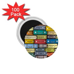 Colored Suitcases 1 75  Magnets (100 Pack)