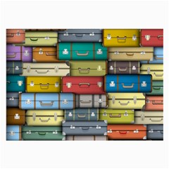 Colored Suitcases Large Glasses Cloth