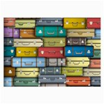 Colored Suitcases Large Glasses Cloth Front
