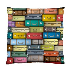 Colored Suitcases Standard Cushion Case (two Sides) by Jojostore