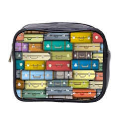 Colored Suitcases Mini Toiletries Bag 2 Side