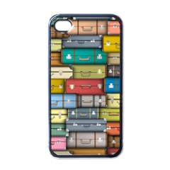 Colored Suitcases Apple Iphone 4 Case (black)