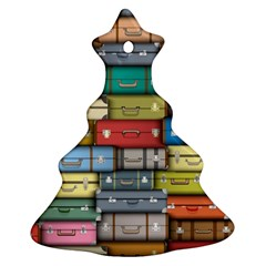 Colored Suitcases Ornament (christmas Tree) by Jojostore