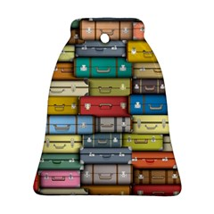 Colored Suitcases Bell Ornament (2 Sides)