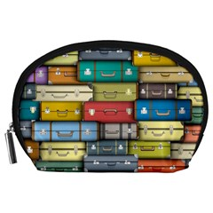 Colored Suitcases Accessory Pouches (large)
