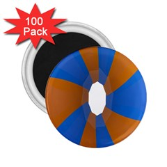 Curve Blue Orange 2 25  Magnets (100 Pack)  by Jojostore