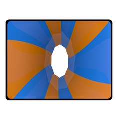 Curve Blue Orange Fleece Blanket (small)