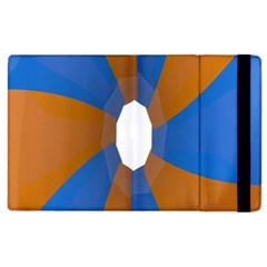 Curve Blue Orange Apple Ipad 2 Flip Case