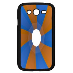 Curve Blue Orange Samsung Galaxy Grand Duos I9082 Case (black)
