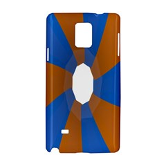 Curve Blue Orange Samsung Galaxy Note 4 Hardshell Case by Jojostore
