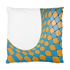 Curve Blue Yellow Standard Cushion Case (one Side) by Jojostore