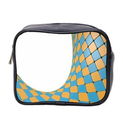 Curve Blue Yellow Mini Toiletries Bag 2 Side