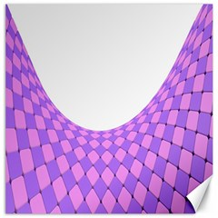 Curve Purple Pink Wave Canvas 16  X 16   by Jojostore
