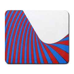 Curve Red Blue Large Mousepads