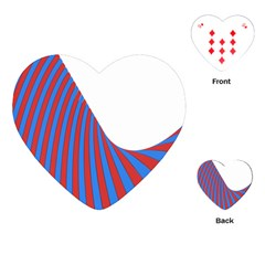 Curve Red Blue Playing Cards (heart)