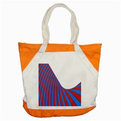 Curve Red Blue Accent Tote Bag by Jojostore