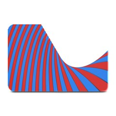 Curve Red Blue Plate Mats by Jojostore
