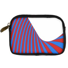 Curve Red Blue Digital Camera Cases by Jojostore