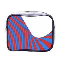 Curve Red Blue Mini Toiletries Bags