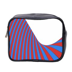 Curve Red Blue Mini Toiletries Bag 2 Side